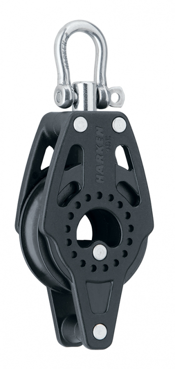 Harken HK 2637 - 40mm Carbo Block mit Hundsfott