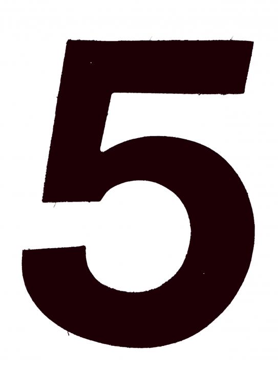 D/R Segelnummer - 5 - schwarz