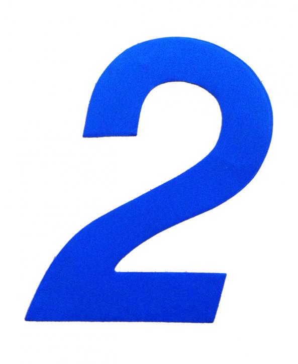 D/R Segelnummer - 2 - blau