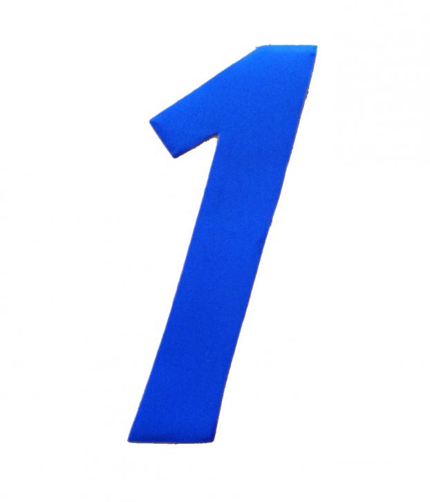 D/R Segelnummer - 1 - blau