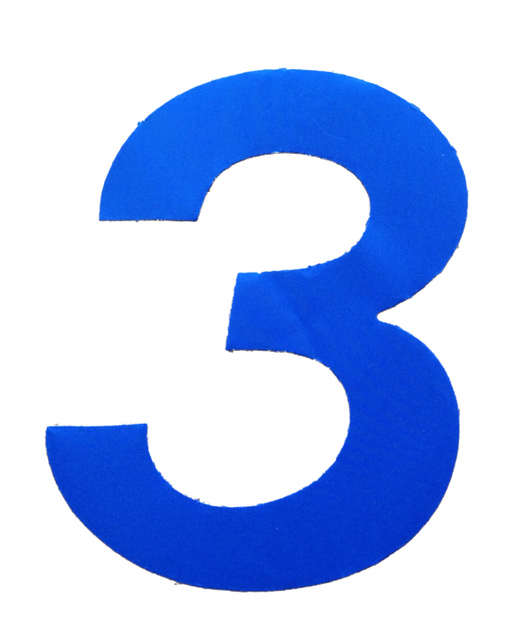 D/R Segelnummer - 3 - blau