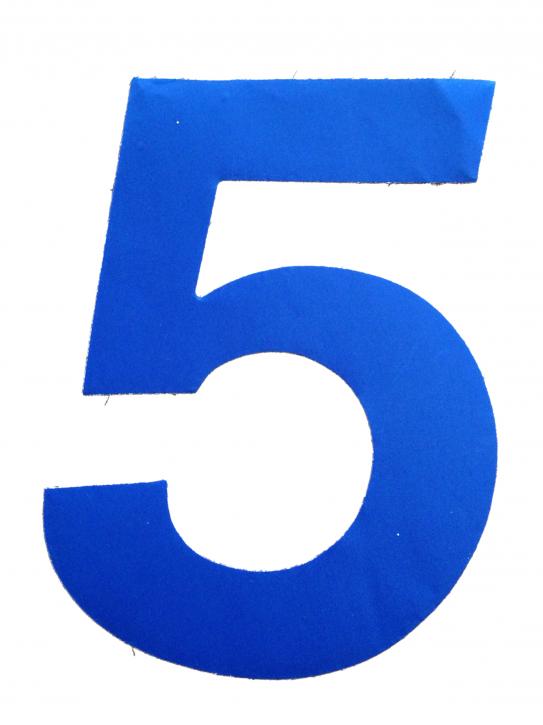 D/R Segelnummer - 5 - blau