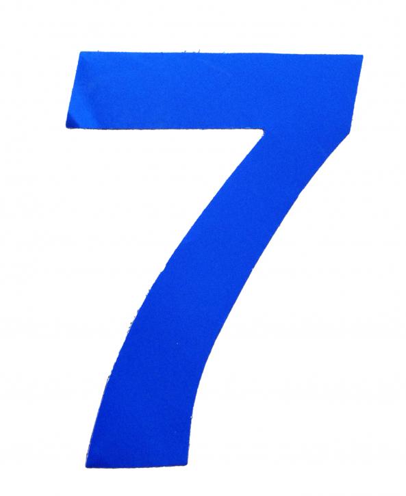 D/R Segelnummer - 7 - blau