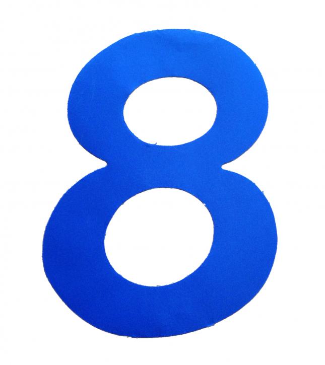 D/R Segelnummer - 8 - blau