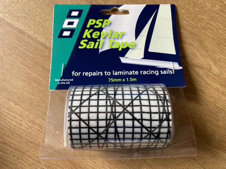 Black Kevlar/Mylar Laminat Repair Tape 75mmx1.5m