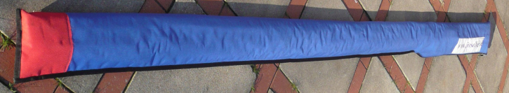 Finn boom cover with foam padded