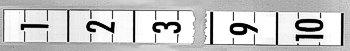 Markierungstreifen - 6 Stück