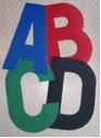 Segelbuchstaben - selbstklebender Nummernklebstoff