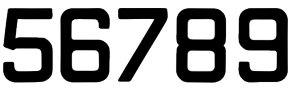 numbers - from self-adhesive material