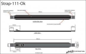 ZHIKGrip II OK Jolle Ausreitgurt (je Stück)